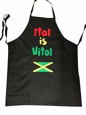 Novelty Apron Adults Rasta BBQ Gifts ITAL VITAL Party Kitchen Home Chefs Cooking