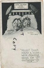 WW1 greetings card dreaming of a Prisoner Exchange Doeberitz A J Clarke POW