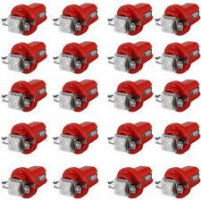 20pcs T5 B8.5D Car Gauge 5050 1SMD LED Speedo Dashboard Dash Side Light Bulb Red