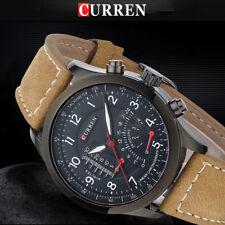 CURREN Sports Men's Quartz Analog Stainless Steel Case Waterproof Wrist Watch