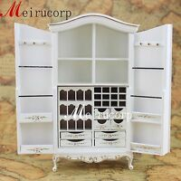 Fine 1:12 scale dollhouse miniature furniture handmade white distinctive cabinet