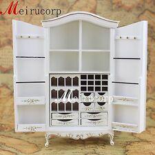 Fine 1 12 Scale Dollhouse Miniature Furniture Handmade White Distinctive Cabinet