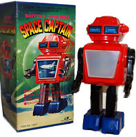 Vintage Japan TV Robot Space Captain Junior Toys Battery Operated