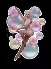 "Large Die-cut Madd Anthony Vinyl Pin-Up Girl Art Sticker ""Mosh Bubbles"" Blonde"