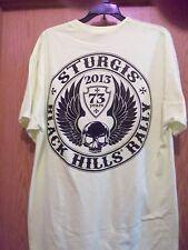 Sturgis graphic yellow 2013 XL t shirt black hills rally