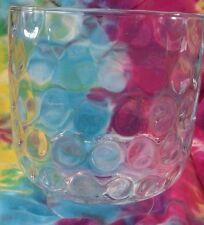 "Mikasa Pebblestone Crystal Hurricane 8.5"" footed trifle bowl Bubble ripple MINT"