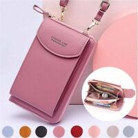 Women Mobile Phone Bag PU Leather Crossbody Mini Purse Wallet Shoulder  Pouch w