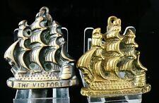 2 Vintage/Antique Brass Door Knockers, The Victory Ship Galleon