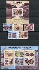 More details for tanzania stamps 2012 mnh material culture calabash maasai 5v set 6v m/s 1v s/s