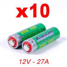 10x lr27a 27a Alcaline-Batteria a27 12v mn27 v27a l828 lg