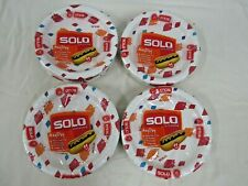 """4 x 44 Count NIB Solo Cup AnyDay 8.5"""" Paper Plate Packs (176 plates total)"""