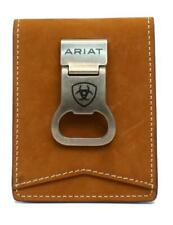 Ariat Western Mens Money Clip Bifold Leather Brown A3543344