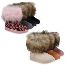 Damen Stiefeletten Schlupfstiefeletten Warm Gefütterte Stiefel 832732 Schuhe