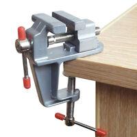 """Mini Tisch Schraubstock 3,5 """"Werkbank Klemme Swivel Vice Craft Repair Tool G3D"""