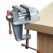 "Mini Table Bench Vise 3.5"" Work Bench Clamp Swivel Vice Craft Repair ToolP&C"