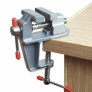 """Mini Table Bench Vise 3.5"""" Work Bench Clamp Swivel Vice Craft Repair OI"""
