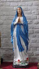 Wunderschöne Maria Madonna Figur Krippenfigur Skulptur Statue Betend Groß 1m