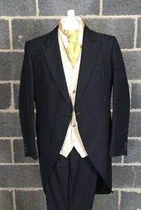 Mens Black Tailcoat 48L Long. Brand New