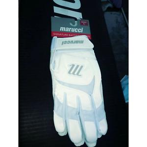 Marucci batting gloves White Adult Large