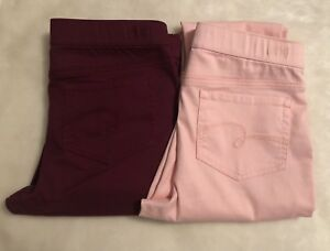 Justice Girls Color Pull on Leggings NWT