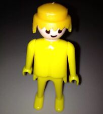 Vintage 1970s Geobra Playmobil Yellow Figure with Blond Hair Great Condition!