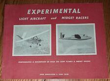 New ListingExperimental Light Aircraft and Midget Racers by John Underwood 1958