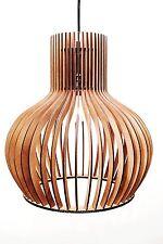 Deckenleuchte  Modern Medium Holzleuchte Pendelleuchte Deckenlampe Holz Neu