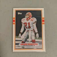1989 Topps Traded Football Deion Sanders #30T Rookie Card Atlanta Falcons *MINT*