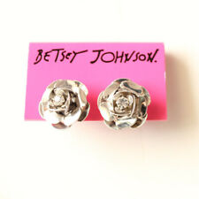 New Betsey Johnson Rose Stud Earrings Gift Fashion Women Party Holiday Jewelry