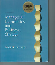 Managerial Economics and Business Strategy Michael Baye 2002 Hardcover Book W/CD