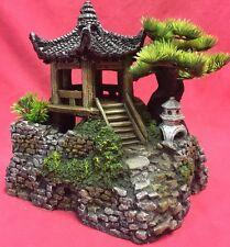 """Repile Vivero Ornamento asiático Zen oriental Pagoda Casa Tanque Decoración de 8 X 9"""""""