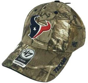 Houston Texans logo NFL '47 Brand Hat Cap adjustable authentic realtree camo new