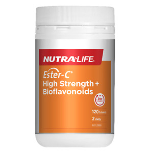 New NutraLife Ester-C 1500mg High Strength+Bioflavonoids 120 Tablets Nutra life