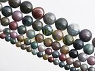 10pcs 14mm Round Natural India Agate Stone Gemstone Loose Spacer Beads Findings
