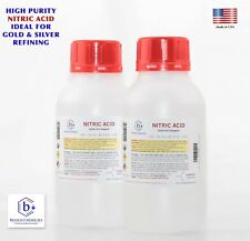 Bausch Nitric 70% Acid HNO3 1 Liter (2xHL) Highest Purity Gold Silver Refining