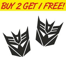 Decepticon Transformer Laptop PC Car Motorbike Vinyl Sticker Graphic Decal Funny