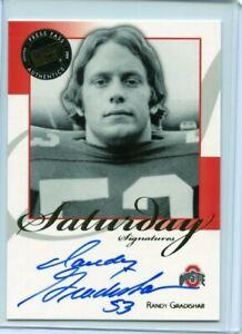 2008 Press Pass Saturday Signatures Randy Gradishar Autograph Ohio State