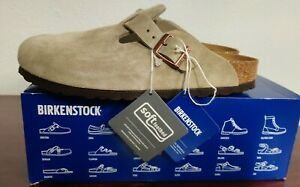 Birkenstock boston BS 40 taupe womens 9 mens 7 Slides Clogs Taupe NARROW