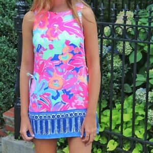 Lilly Pulitzer Donna Shift Romper Playa Hermosa Engineered Floral Print Size 2
