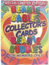 Ty Beanie Babies Collector Cards Members Only Clubby, Clubby Ii Sealed 1999 Mint