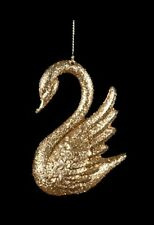 KURT S. ADLER GOLDEN SPLENDOR GOLD GLITTER SWAN CHRISTMAS ORNAMENT