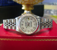 Ladies ROLEX Datejust Stainless Steel White Gold Mother-of-Pearl Dial Watch
