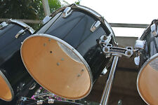 """LATE 70's/EARLY 80's LUDWIG BLACK CORTEX 14"""" CONCERT TOM for DRUM SET LOT #G758"""