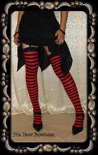 Fairy Girl Gothic Lolita Horizontal Striped Stockings Choose Color OS