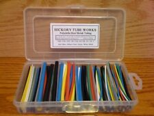 "Assortment Heat Shrink Tubing 6 sizes 4"" 7 Colors 1/16"""
