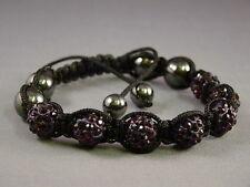 Crystal Shamballa Bracelet 7 Disco Clay Balls 10mm Adjustable, ***SPECIAL OFFER