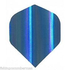2 SETS OF QUAZAR HOLOGRAPHIC DART FLIGHTS BLUE