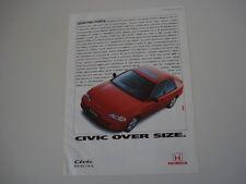 advertising Pubblicità 1993 HONDA CIVIC