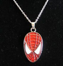 "18""  925 Sterling Silver Chain Spider-Man Pendant Necklace Comic Book Superhero"