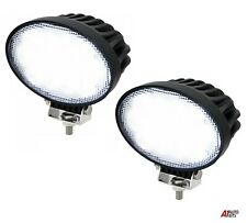 2x Professional Oval 40w Led Work Lights Lamps Flood Beam Digger Tractor Digger